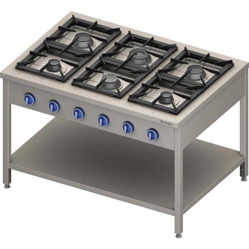 Kuchnia gazowa, 6-palnikowa, 900 mm, 32.5 kW, G20