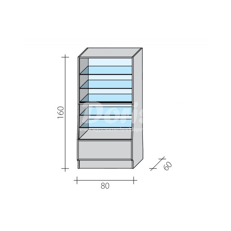 Lada witryna o wymiarach 100x60x160 cm LGW-100/ALB