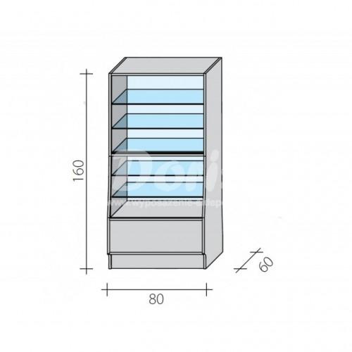 Lada witryna o wymiarach 80x60x160 cm LGW-80/ALB