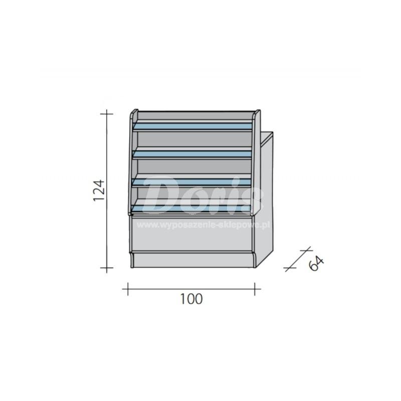 Lada sklepowa pełna z impulsem o wymiarach 100x60x95 cm LGI-W-100/ALB