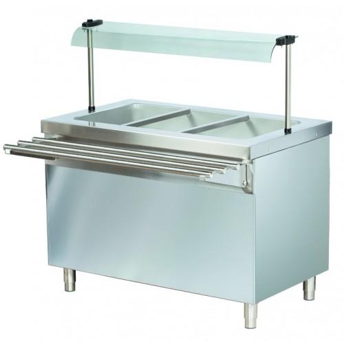Stanowisko chłodnicze z ladą sałatkową z podstawą otwartą  1150x700x1245  3GN1/1  RS711FN