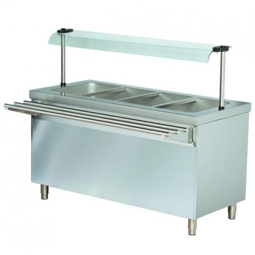 Stanowisko chłodnicze z ladą sałatkową z podstawą otwartą 1470x700x1245  4GN1/1  RS714FN