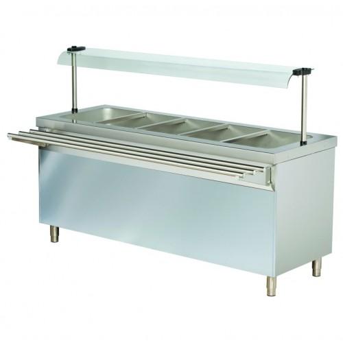 Stanowisko chłodnicze z ladą sałatkową z szafką chłodzącą 1800x700x1245  5GN1/1  RSR718FN