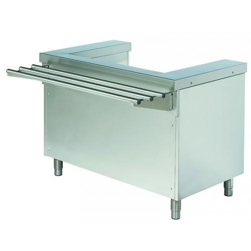 Stanowisko do dystrybutora do talerzy z półką na tace ROT710F