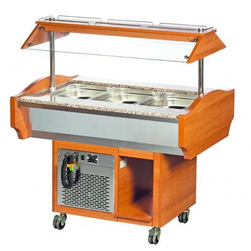Wózek bufetowy chłodniczy 1185x900x1320  3GN1/1  SBM3