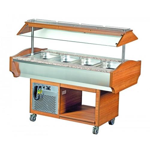 Wózek bufetowy chłodniczy 1505x900x1320  4GN1/1  SBM4