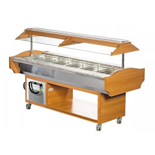 Wózek bufetowy chłodniczy 2150x900x1320  6GN1/1  SBM6