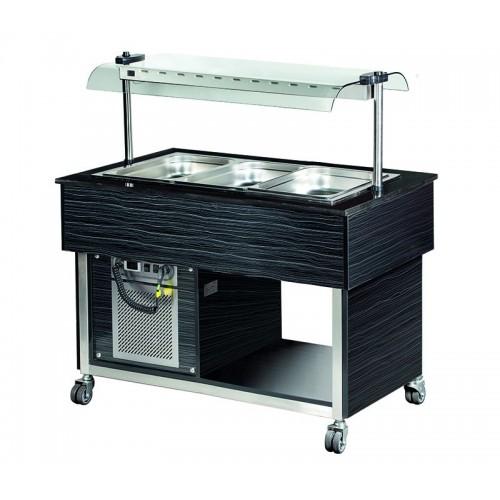 Wózek bufetowy chłodniczy  -Linia Premium  1250x800x1355  3GN1/1  MBC811B