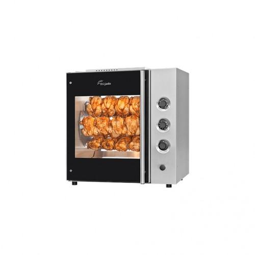 Rożen, opiekacz manualny do 20 szt. kurczaków do sklepu, gastronomii Frijado TDR5