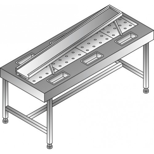 Stół do oczkowania o wymiarach 2300 x 900 x 1240 mm