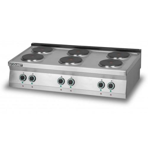Kuchnia elektryczna 6-płytowa