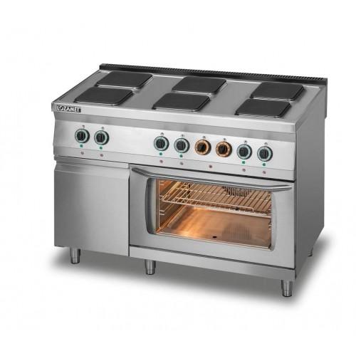 Kuchnia elektryczna 6-płytowa z piekarnikiem elektrycznym z termoobiegiem i szafką