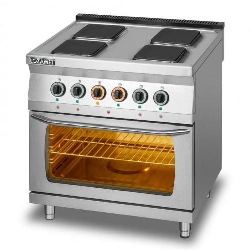 Kuchnia elektryczna 4-płytowa z piekarnikiem elektrycznym z termoobiegiem