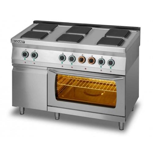 Kuchnia elektryczna 6-płytowa z piekarnikiem elektrycznym i szafką