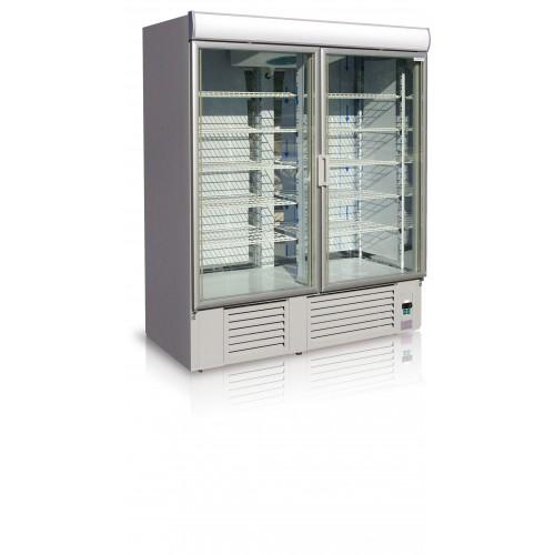 Szafa mroźnicza do sklepu, gastronomii, przeszklona o długości 167.5 cm OLA 1400.2 M/OL100.2/M
