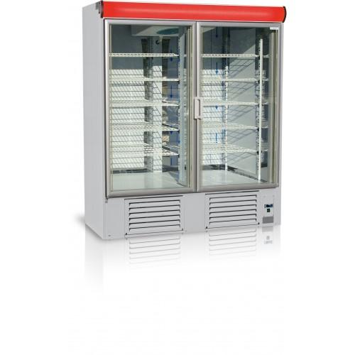 Szafa mroźnicza do sklepu, gastronomii, przeszklona o długości 140 cm OL100.2/M/GASTRO