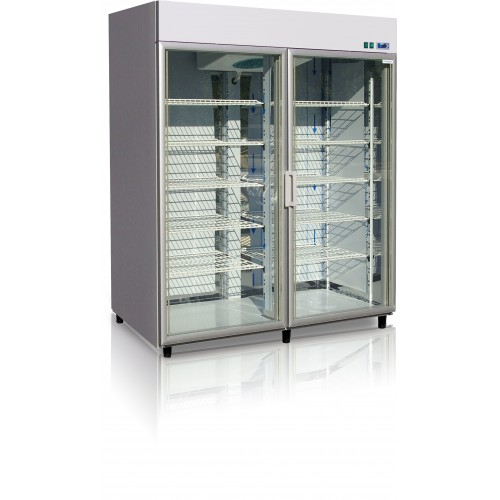 Szafa mroźnicza do sklepu, gastronomii, przeszklona o długości 140 cm OL100.2/AG/M/GASTRO