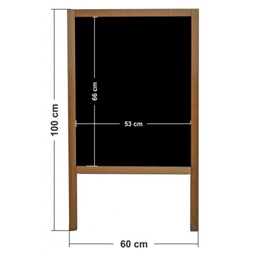 Potykacz reklamowy kredowy drewniany stojak do sklepu, gastronomii o wymiarach 90x51 cm