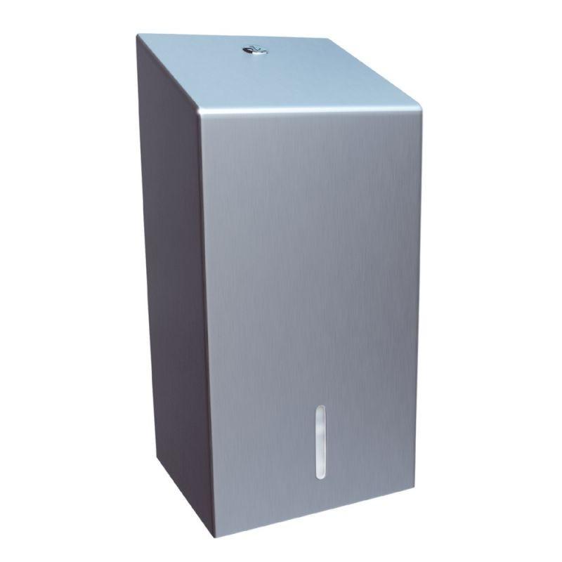 Pojemnik na papier toaletowy w listkach ze stali matowej BSM401/MER