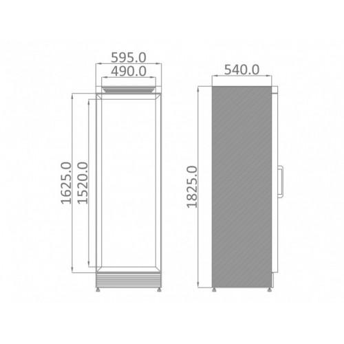 Szafa mroźnicza o długości 595 mm UFR 370 SD