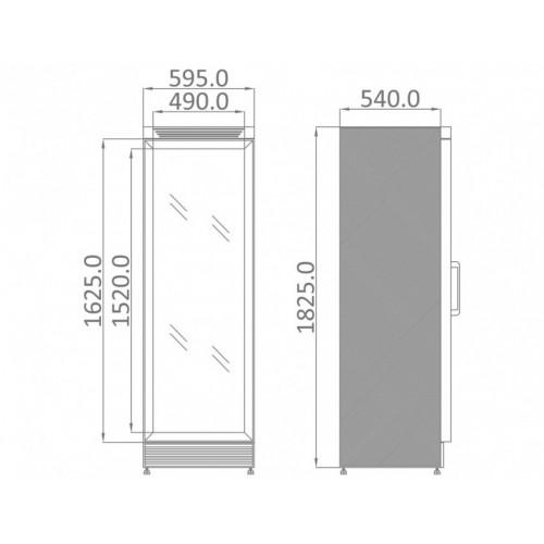 Szafa mroźnicza o długości 595 mm UFR 370 GD