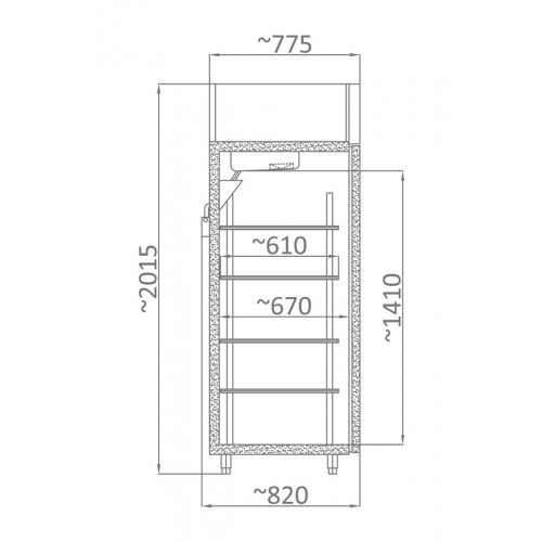 Szafa mroźnicza o długości 665 mm SMR 700
