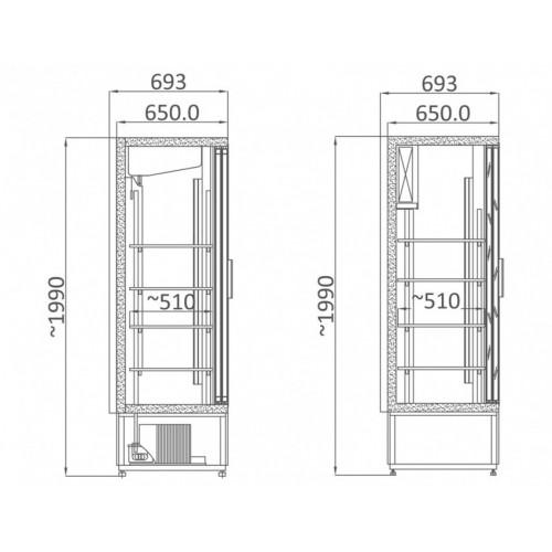 Szafa chłodnicza o długości 2070 mm SCH 2000 R