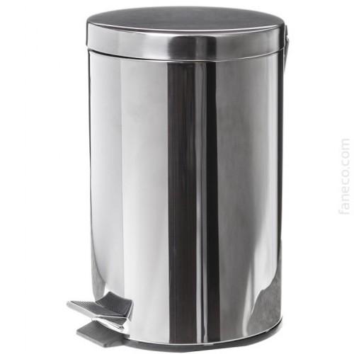 Kosz na śmieci ze stali nierdzewnej o pojemności 12 litrów ECO SN P