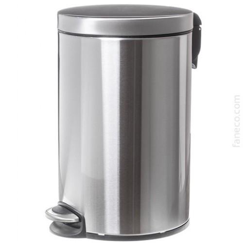 Kosz na śmieci ze stali nierdzewnej o pojemności 12 litrów SN M