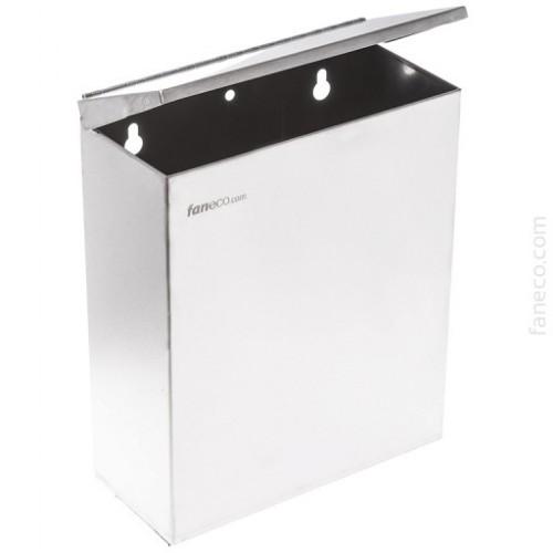 Kosz naścienny na odpadki higieniczne ze stali nierdzewnej z pokrywą o pojemności 7 litrów