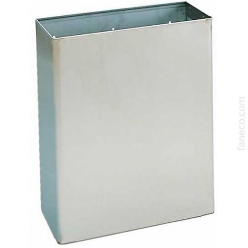 Kosz naścienny na ręczniki papierowe ze stali nierdzewnej o pojemności 23 litrów SN M