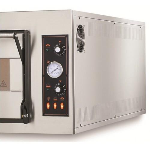 Piec elektryczny piekarniczy modułowy szamotowy z podwyższaną komorą na blachy 2x600x400 mm
