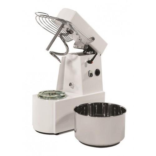 Miesiarka spiralna do ciasta z podnoszonym hakiem i wyjmowaną dzieżą o pojemności 50 litrów oraz zasilana napięciem 400V