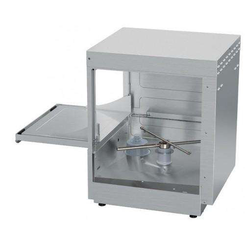 Zmywarka do szkła i talerzy z koszem o wymiarach 500x500 mm zasilana napięciem 400V