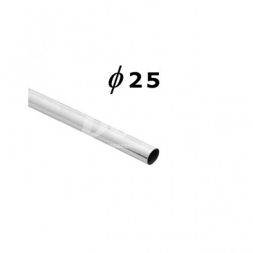 Rura chromowana o długości 300 cm i średnicy Ø 25 mm