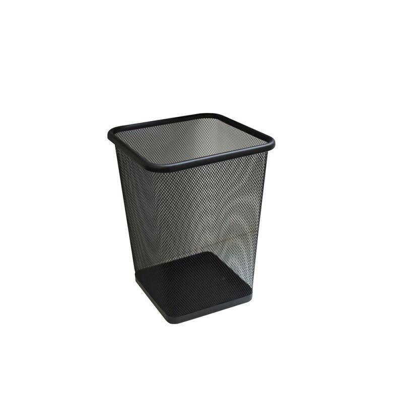 Kosz biurowy z czarnej siatki o pojemności 10 litrów KIC102/MER