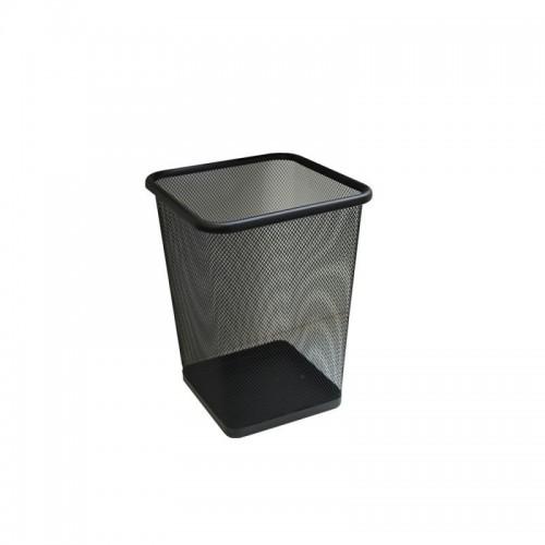 Kosz biurowy z czarnej siatki o pojemności 10 litrów KIC102