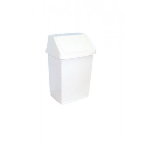 Kosz na odpady z uchylną pokrywą z tworzywa sztucznego o pojemności 9 litrów B8A