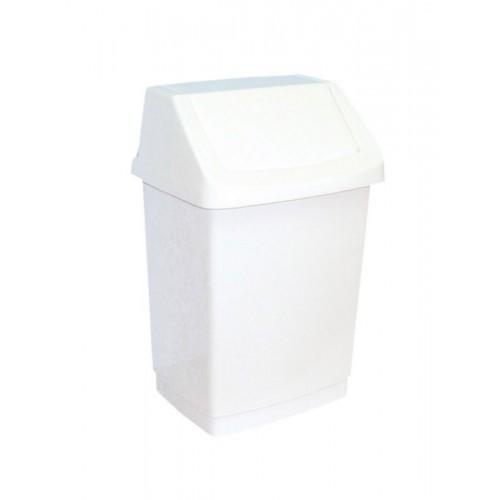 Kosz na odpady z uchylną pokrywą z tworzywa sztucznego o pojemności 15 litrów B8B