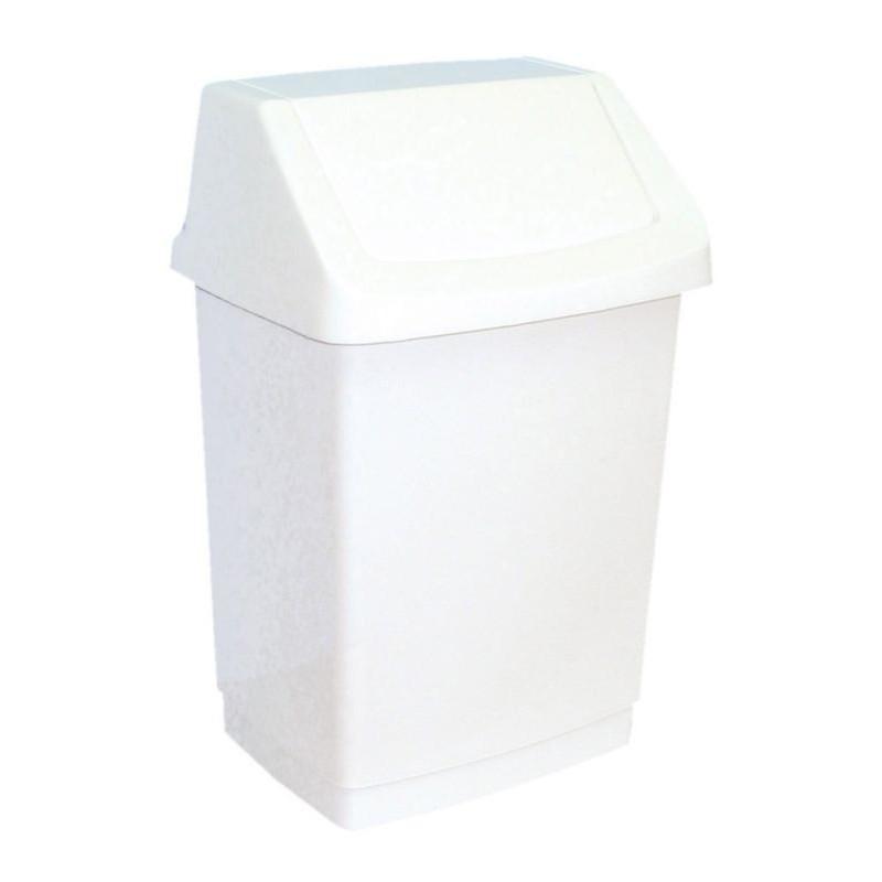 Kosz na odpady z uchylną pokrywą z tworzywa sztucznego o pojemności 25 litrów B8C/MER