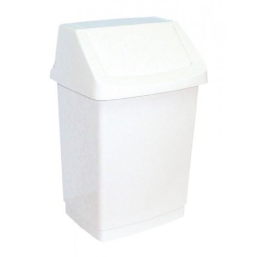Kosz na odpady z uchylną pokrywą z tworzywa sztucznego o pojemności 25 litrów B8C
