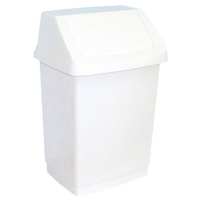 Kosz na odpady z uchylną pokrywą z tworzywa sztucznego o pojemności 50 litrów B8D/MER