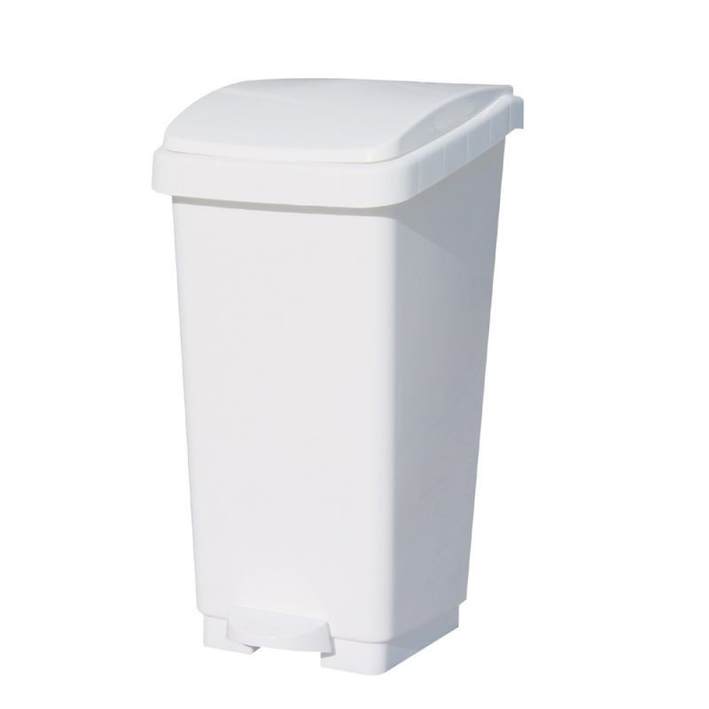 Kosz na odpady otwierany przyciskiem pedałowym o pojemności 50 litrów KAB405/MER
