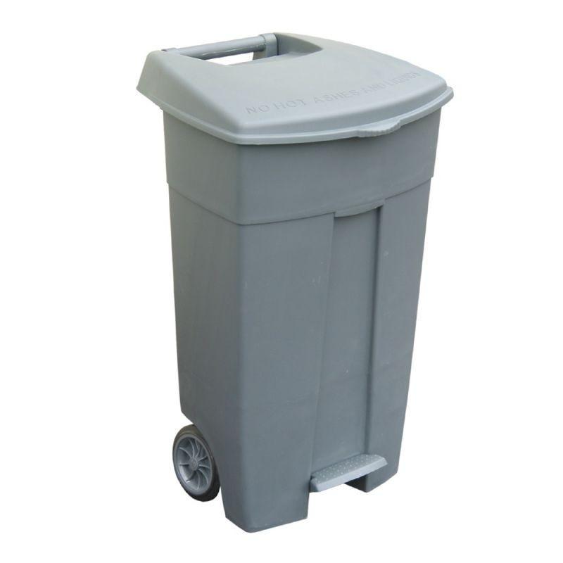 Duży pojemnik na odpady z pokrywą o pojemności 120 litrów KJS405/MER