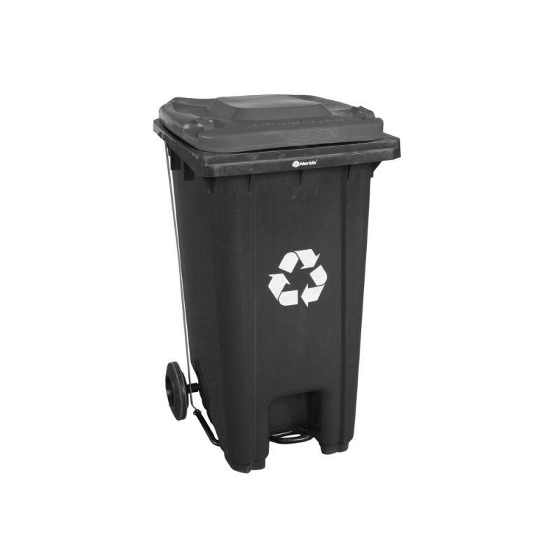 Kosz na odpady otwierany przyciskiem pedałowym o pojemności 120 litrów KJS412/MER