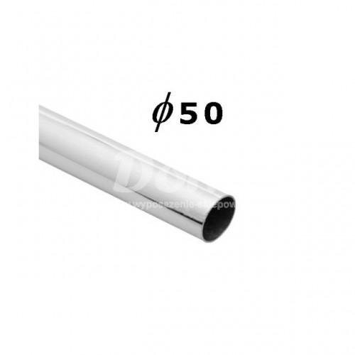 Rura chromowana o długości 150 cm i średnicy Ø 50 mm