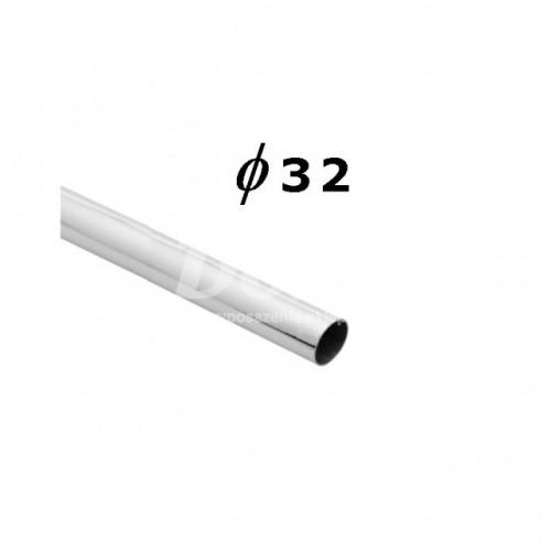 Rura chromowana o długości 300 cm i średnicy Ø 32 mm