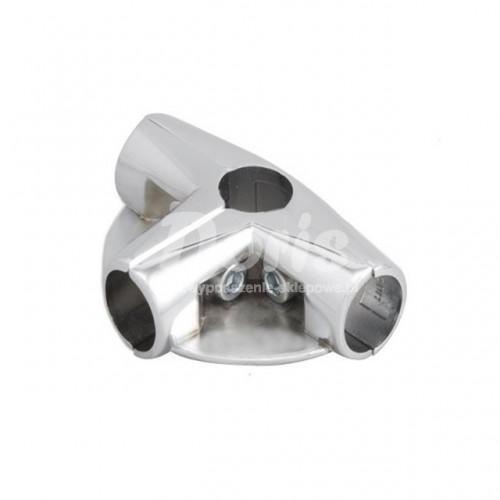 Złącze trzyramienne z dwoma półkami do rury Ø 25 mm