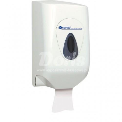 Pojemnik na ręczniki papierowe w rolach z tworzywa ABS posiadający szare okienko