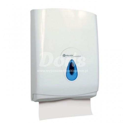 Pojemnik na pojedyncze ręczniki papierowe z niebieskim okienkiem